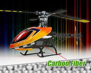 Picture of RC Helicopters 450 Carbon Fibre Body (Assembled Kit)
