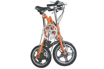 Picture of AdraXx Super Folding Bike For City And Vacations With 7 Speed Gears (Orange)