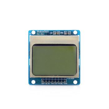 "Picture of 1.6"" Nokia 5110 LCD Module w/ Blue Backlit for Arduino"