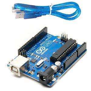 Picture of UNO R3 Development Board ATmega328P  with USB cable for Arduino