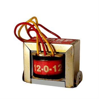 Picture of 12VAC-0-12VAC Output Voltage EI Ferrite Core Input 220V 50Hz Vertical Mount Electric Power Transformer 2W