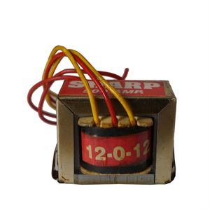 Picture of 12VAC-0-12VAC Output Voltage EI Ferrite Core Input 220V 50Hz Vertical Mount Electric Power Transformer 2W