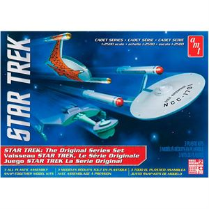 Picture of AMT 1/2500 Star Trek TOS Era Ship Set, Snap Kit