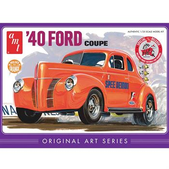 Picture of AMT USA 1/25 Scale Orange '40 Ford Coupe Plastic Model Kit