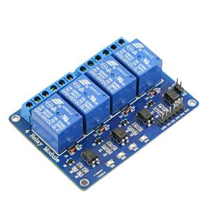 Picture of Adraxx Four 4 Channel Relay Module DC 5V With Optocoupler For Arduino PIC ARM AVR DSP